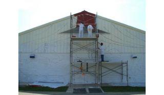 beginning the mural...