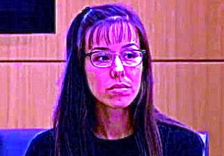 Jodi Arias--a scene from court adapted from an abc news still