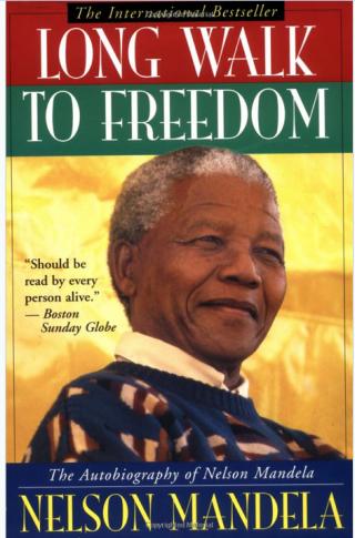 Nelson Mandela Long Walk to Freedom book jacket
