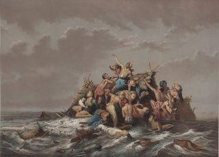 A Flood on Java by Raden Saleh