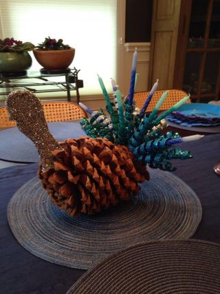 Marty Stein's creative merging of turkey and menorah