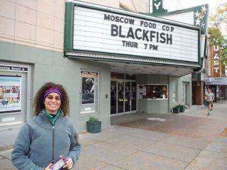 Samantha Berg with Blackfish marquee