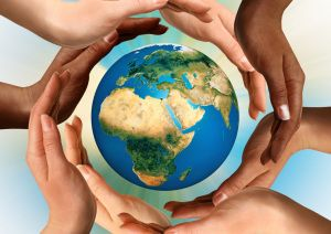 Healing hands encircle Earth