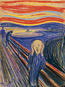 Scream by Edvard Munch (1895)