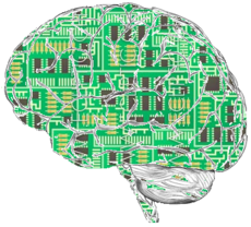 A brain made from an integrated circuit board