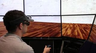 A man uses a virtual reality console