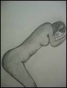 Nude Woman Grieving