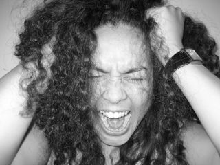 angry scream