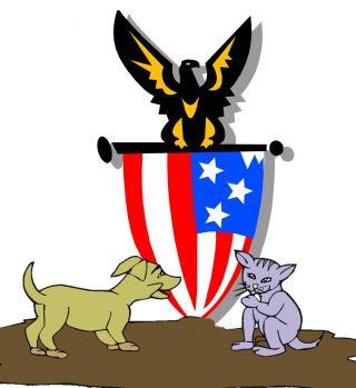 dog cat bond democrat republican libral conservative