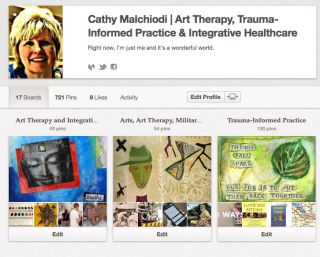 Screen Shot of Cathy Malchiodi's Pinterest
