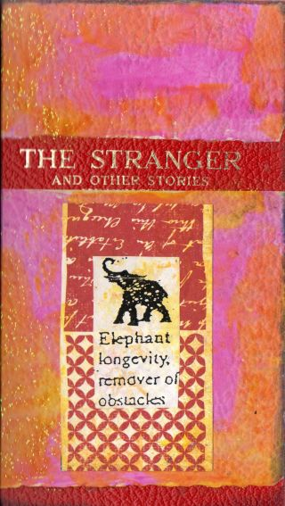 The Stranger, an altered book cover by Cathy Malchiodi ©2013