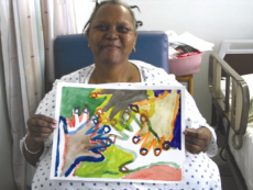 cancer patient and art at bedside program