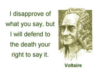 Voltaire-free speech