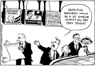 Democracy without freedom of speech