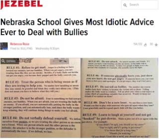 School attacked for flier