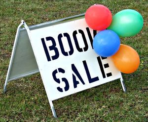 Sign for a book sale