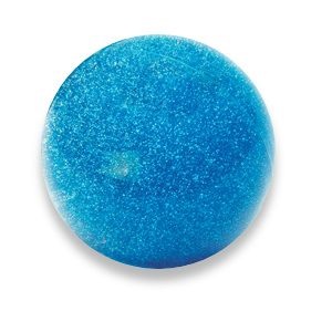 Picture of the blue glitter filled ball