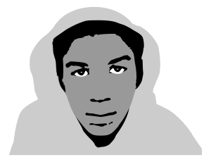 Stylized photo of Trayvon Martin