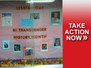 LGBT history month bulletin board