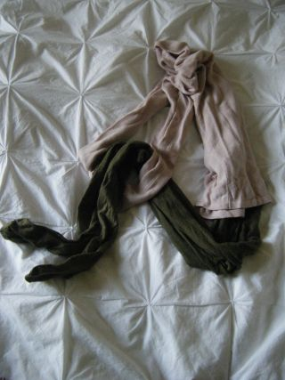 woollen tights and jumper