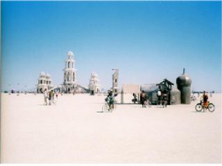 The Burning Man Temple is a place of meditation and spiritual contemplation