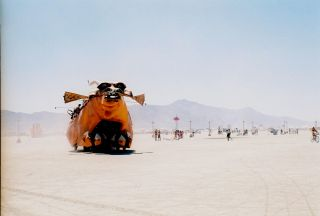 Mutant Vehicles Cruise the Desert Playground