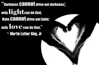 MLK quote: Hate cannot drive out hate. Only love can do that.