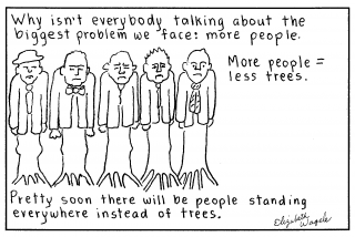 People instead of trees