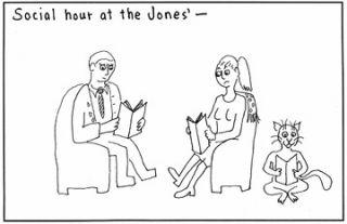 Social hour at the Jones'.
