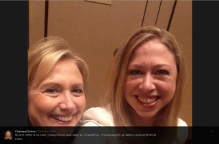Hilary and Chelsea Clinton Selfie