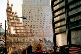 9/11 rubble at Ground Zero