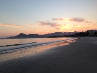 Nature fortifies my faith, sunrise from a run in Mexico.