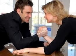 Couple Arm-Wrestling