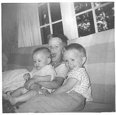 A photo of three brothers, all together, 1957