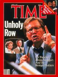 Jimmy Swaggart on cover of Time Magazine