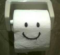 toliet paper smile