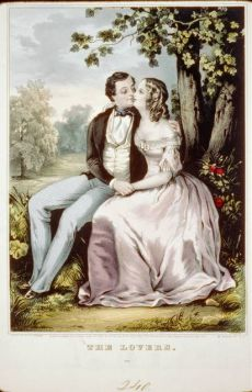 A depiction of romantic love in the 19th century