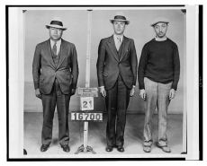 Men arrested for murder in the 1930's