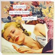 mom dreams about clean house