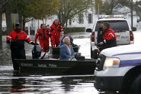 Super Storm Sandy rescue in coastal New Jersey town