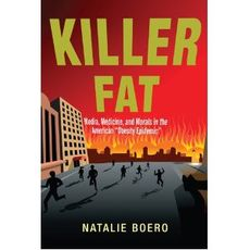 Cover of the book Killer Fat by Natalie Boero, people running in panic