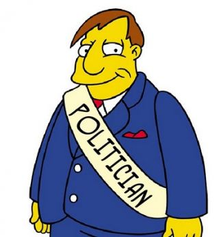 simpsons politician character