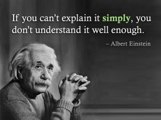 einstein simply explaining things