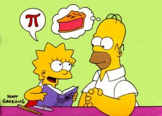 lisa homer simpson pi pie