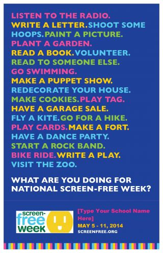Screen Free Activities Flyer CCFC