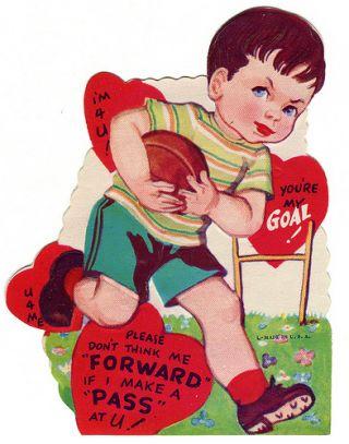 vintage football valentine