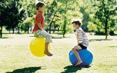 Boys bouncing