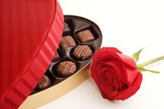 chocolates and rose