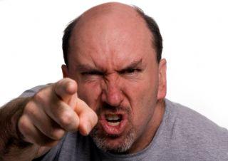 angry man, angry people