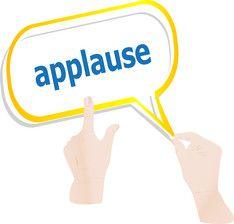 Applause.  Applause.  Applause.